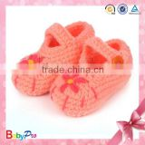 2014 New Design Cute Hand Crochet Baby Shoes Fashion Crochet Knitting Baby Shoes Flower Crochet Baby Shoes