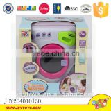 Children home appliance set mini washing machine with light and music electric plastic washing machine toys
