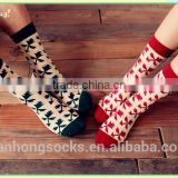 Four leaf clovers socks couple cotton socks wholesale with low price