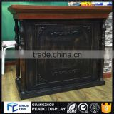 Hot sale modern wood spa counter table front desk, retail cash counter desk with good design