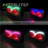 HTAUTO Auto Lighting System Angel Eyes Led Offroad Light Bar IP67 Waterproof LED Light with Red Devil Eyes