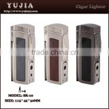 Smoking accessories wholesale Multi-fonction cigar lighter with cigar cutter and punch custom products