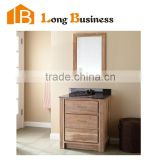 LB-LX2202 The latest design waterproof wooden bathroom vanity, double sink mordern bathroom vanity