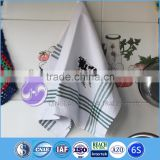 custom printed plain white design embroidery cotton second hand towels
