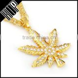 Fashion Hip Hop Gold Plated Maple Leaf Necklace
