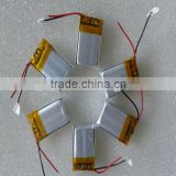 061213 small Lipo battery 50mAh 3.7V rechargeable ultra thin lithium polymer battery