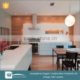 2016 China Guangzhou OPPEIN Wood Veneer and Shining MDF Lacquer Kitchen Cabinet pantry cupboards sri lanka