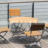 steel folding table and chair, folding bistro dining set, cheap furniture                                                                         Quality Choice