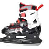 New fashion 4 size adjustable ice skate shoes for kid with tough ice blade
