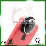 Universal clip 235 degree super fisheye lens for cellphone, fish eye spare parts mobile phone lens accept paypal