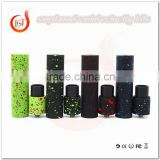 Newest SMPL Mechanical MOD With MINI Velocity RDA E Cigarette KIT Combo Splatter Wide Bore Drip Tips 22mm PEEK Insulators