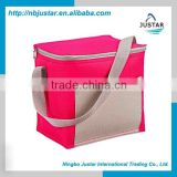 Fancy Color 600D Polyester Material Whole Food Use Insulated Fitness Lunch Bag with Adjustable Shoulder Strap