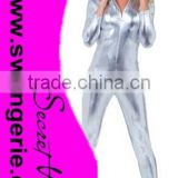 Stretch Liquid Silver Jumpsuit Adult Costume CC255
