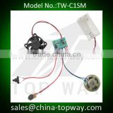 Voice and cooling fan assembling module activated by motion sensor