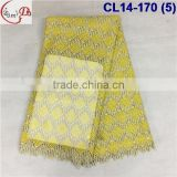 CL14-170 (5) velvet embrodiery fabrice/high quality African Velvet lace fabric with sequins for dress and clothes