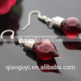 Beautiful Decorative Glass Vial Pendant Earring Glass Bottle With Blood Color Water Earring Novel Trendy Jewelry For Lady