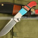 OEM wood handle hunting combat knife