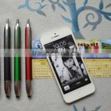 top sale metal touch screen pen with slogan banner