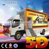 New commercial theater projectors for mobile 5d movie truck cinema