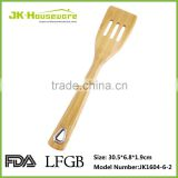new design natural bamboo slotted turner