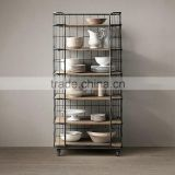 Wrought iron fence bulkhead storage rack shelving American retro to do the old kitchen shelf rack mobile shelf