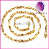 18K gold plated copper chain for man