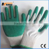 BSSAFETY hot sale factory price 10 guage cotton knit latex dipped industrial safety glove