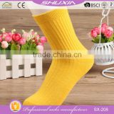 SX-208 low price bulk wholesale cotton knitted women's sock women's cotton socks thermal socks women factory manufacturers