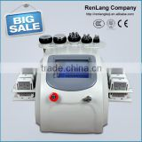 Non Surgical Ultrasonic Liposuction 2015 Hot Sale 6 In 1 Vacuum Cellulite Reduction Cavitation Rf Machine/lipo Laser Slimming/cavitation Facial Beauty Machine