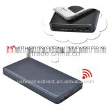 "2.5""Wifi hard disk wholesale for External Drive Wireless USB For Apple iOS Android Win7/XP MAC OS black"