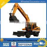 15TON Wheeled Excavator 0.55m3 with US Cummins Engine JYL615 for Sale