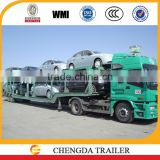 2 / 3 axle car transport semi truck trailer, vehicle car carrier semi trailers for sale