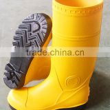 PVC safety shoes with steel toe