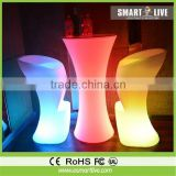 LED light up bar table LED cocktail table for events/party light