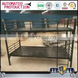 Best bedroom metal bed design furniture cheap metal dormitory bunk bed with storage