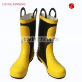 CHINA XINXING Steel Toe fire fighting fire fighter boots fire resistant safety boots