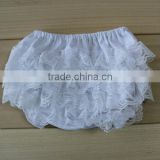 2013 Hot Sale Adorable Solid Color White Baby Lace Bloomers