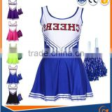 Latest design wholesale factory price girl sublimation Printing match activies Cheerleading Uniforms set