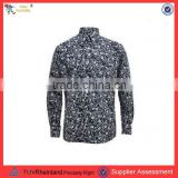 PGMC0697 Top quality 60' s style elegant slim fit long sleeve back men wholesale floral printed t shirt