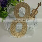 "1000pcs gold glitter paper number ""8"" Decor Festive Birthday Party New Year,Christmas ,Cake"