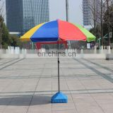 Outdoor sun-proof pole with metal tilt 210cm large size for promotion with customized logo print Beach umbrella frame