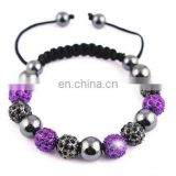 Disco crystal ball shambala bracelets