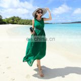 china manvfacture Long dress chiffon new style green sexy pictures of girls without dress long one piece dress clothing women