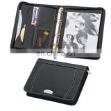new fashion portable PU leather planner notebook set with mini calculator and cards/pen holder NOTEBO908-7