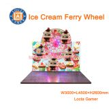 Zhongshan amusement park equipment kid mini Ferry Wheel playground outdoor equipment 5 seat Ice Cream Ferry Wheel