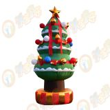 New design Inflatable Christmas tree for shop and family/ advertising inflatable bouncer tree