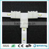 8 mm 2 Pin T Sharp PCB Solderless LED strip connector for SMD 5050 LED strip light mono color