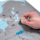 New modern High Quality 55*43CM EU Map Poster Scratch Map For decoration of home or gift for friends