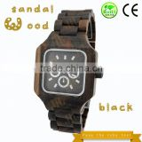 Hot sale Mans watch wooden watches men wrist watch japan movt quartz watch stainless steel back