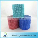 New Fashion High Quality 24 Lines Colorful Rigid Plastic Rhinestone Mesh